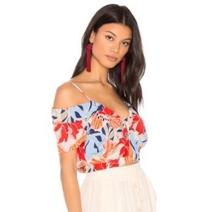 {Astr} NWT Clementine Top in Hibiscus Multi Floral
